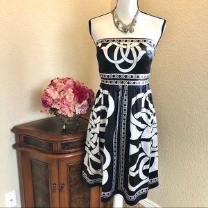WHBM Silk Strapless Dress